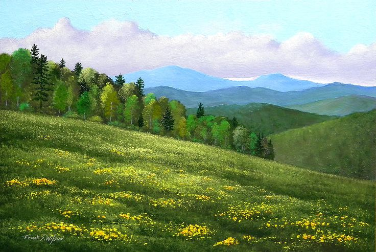 Dandelion hill painting by frank wilson in 2020 travel