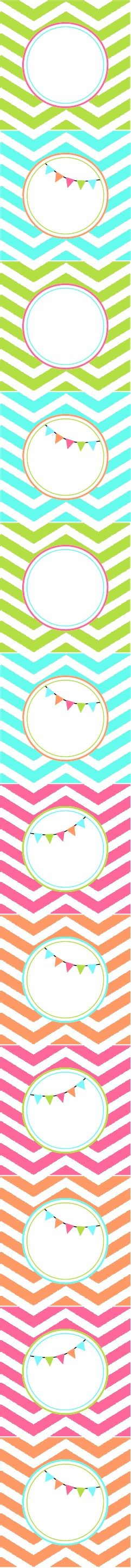 Free printable Bright Chevron Party Circles - Tomkat Studio - TCC