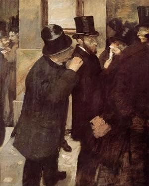 Edgar Degas - At the Stock Exchange, c.1878-79