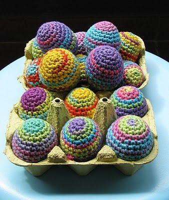 free crochet patterns: rainbow easter eggs | make handmade, crochet, craft
