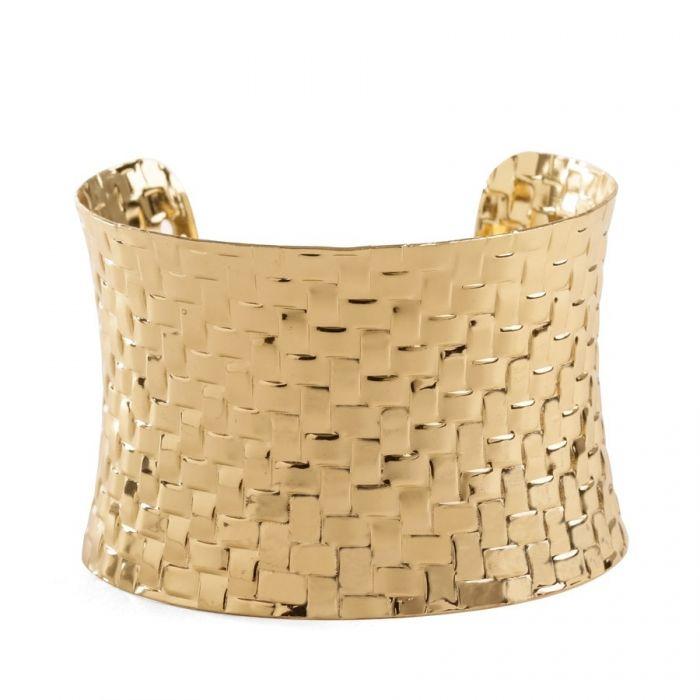 Brazalete dorado ancho de tipo romano para que tu madre esté perfecta