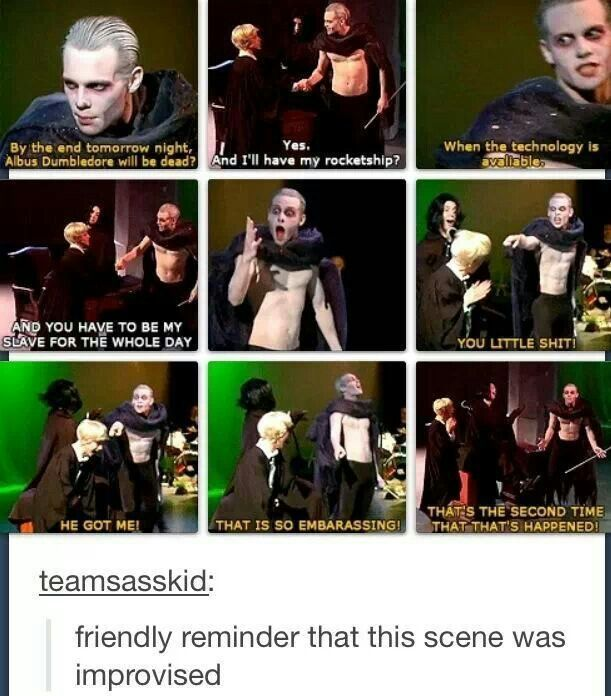 This is why these people are so amazing. :) Not only did Lauren improvise that, but Joe reacted perfectly to the point that everyone thought they had planned it!: