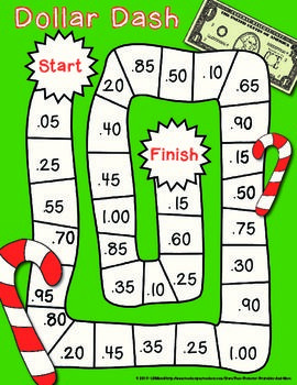 Dollar Dash: Christmas Holiday Freebie (what a fun and exciting way to practice a difficult skill!)