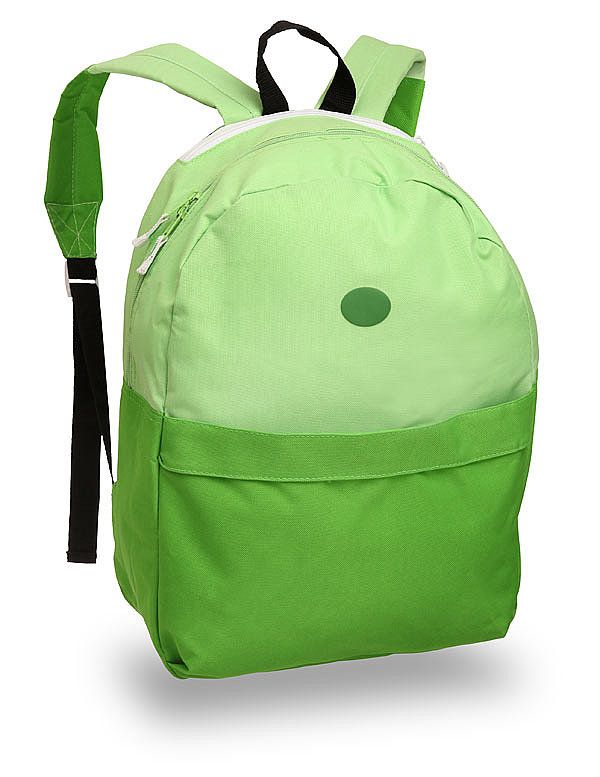 Don't ever leave home without this green backpack ($60), which includes a discreet version of Finn's hat that unfolds from a secret pocket.