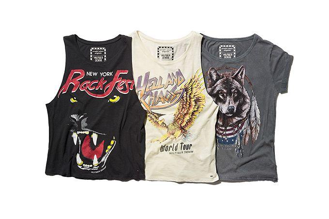 トミー ヒルフィガーからロックなTシャツ&タンクトップ - 70年代のライブポスターを表現 | ニュース - ファッションプレス