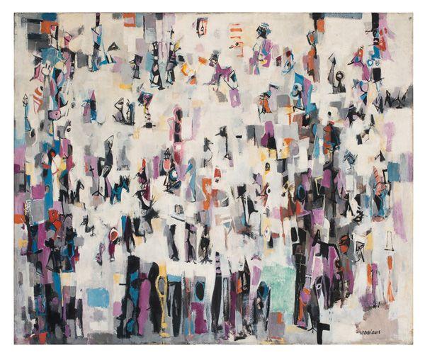 "Norman Lewis, ""Carnival"" (c. 1957) African-American Art"