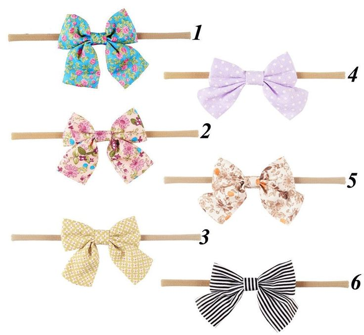 High Quality Handmade Boutique Nylon Headband With Fabric Bow For Baby Girls by SooSooCo on Etsy