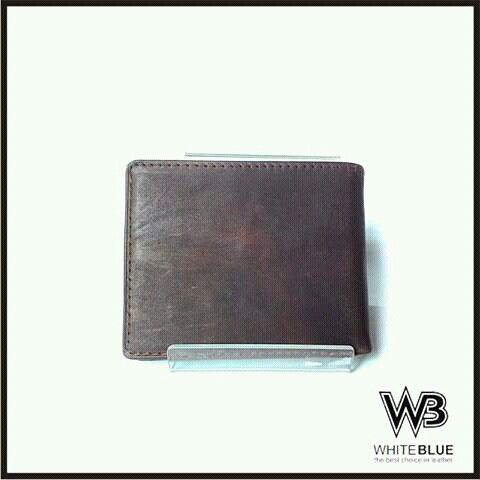 Men's wallet bifold leather,  Www.jualtaskulit.com +6285643717764  #leathercraft #leatherwork #wallet #leatherwallet #dompetkulit #dompetpria #menswallet #genuine #genuineleather #whiteblue