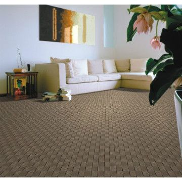 #Tufted are carpets that have their pile injected into a backing material, which is itself then bonded to a secondary backing made of a woven hessian weave or a man made alternative to provide stability.