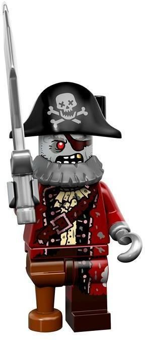 LEGO ZOMBIE PIRATE MINIFIGURE Halloween Monster Figure Series 14 71010 #LEGO