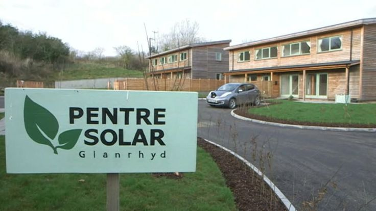 Green future for Wales' homes as solar village opens? - BBC News