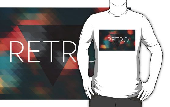 Hipster Retro Triangles Mosaic.  Retro design for a fantastic effect.