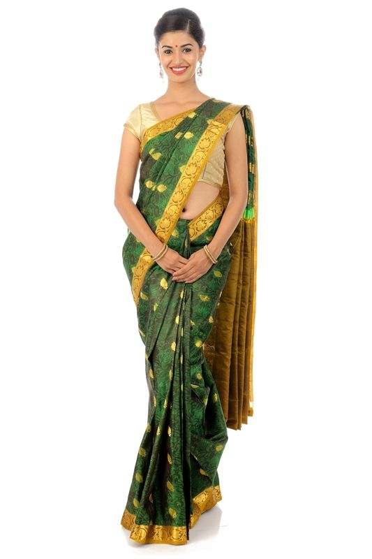 Beautiful elegant ethnic silk sarees at flat 40% OFF at silkshari.com- The online destination for Pure Handwoven Silk Sarees of all types directly from the Authentic Silk Saree Manufacturers from various regions of India