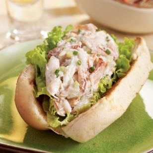 This healthier take on a lobster roll uses crab because it's usually easier (and less expensive) to buy. But by all means use lobster if you prefer. Serve with coleslaw and an ice-cold beer.