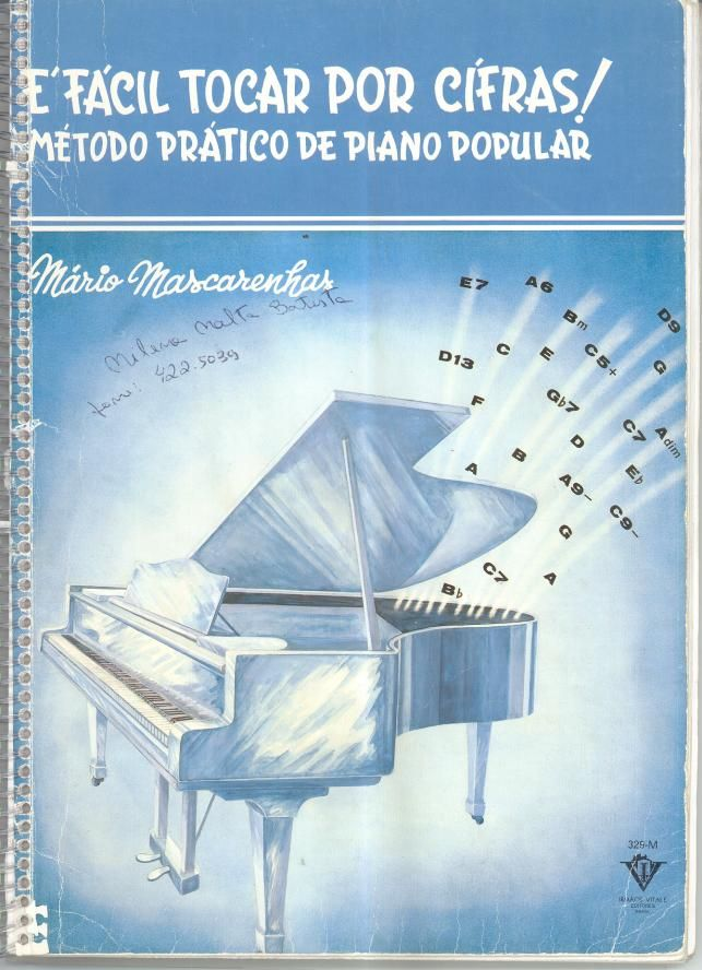 17 best partituras images on pinterest sheet music piano and pianos fcil tocar por cifras mtodo prtico de piano popular por mrio fandeluxe Gallery