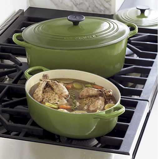 Le Creuset in spinach green, LOVE!