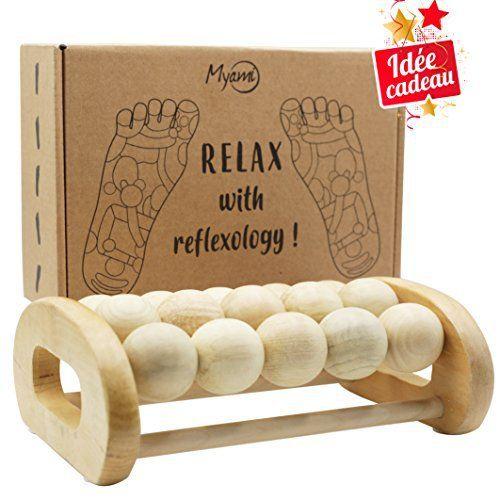 Rouleau de massage des pieds – Relaxation et soulagement des douleurs de pieds, talon, voûte plantaire, améliore la circulation sanguine…
