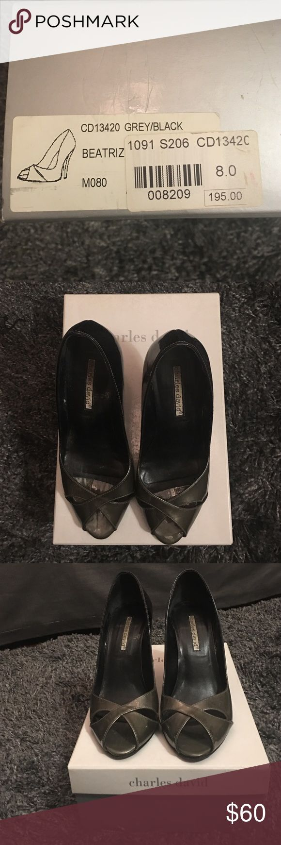 Charles David Patten Grey Heels Charles David Patten Grey Heels Charles David Shoes Heels
