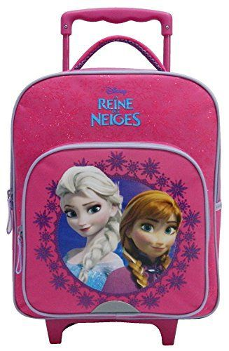 FYI: Sac à dos à roulettes Reine des neiges Paillettes rose: Sac à dos à roulettes paillettes Reine des neiges Conçu pour les écolières de…
