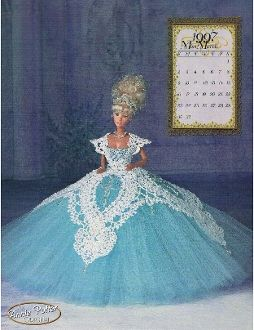 "The cover of the ""Miss March 1997"" crochet pattern by Annie Potter"