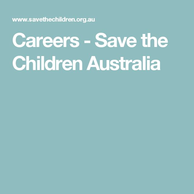 Careers - Save the Children Australia