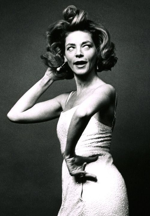 Lauren Bacall Not really my style - I'd never look this good being nutty.  But I love this.