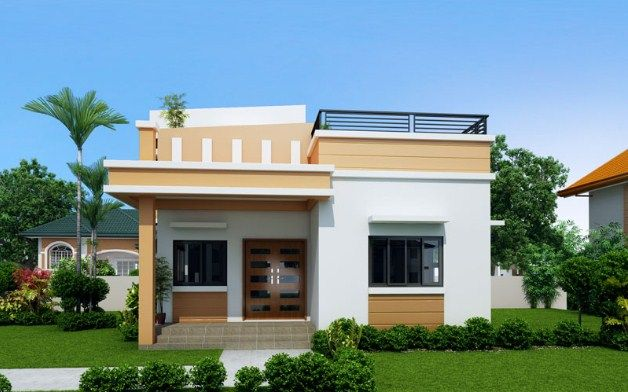 House With Rooftop Design Philippines Modern Bungalow House Duplex House Design One Storey House