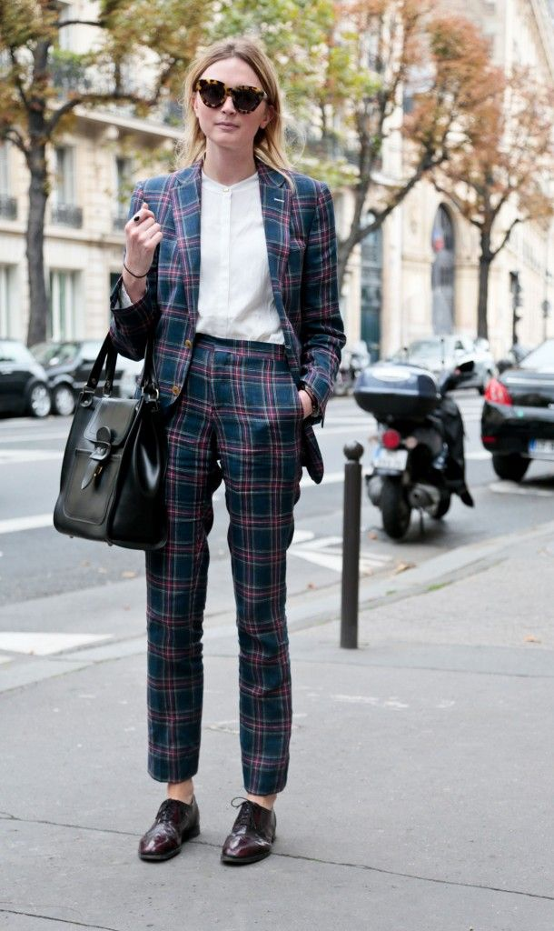 tartan suit (paris FASHION WEEK ss14)