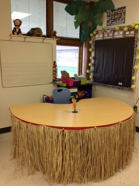 So cute for a teacher's desk. Would hide a lot of junk underneath!