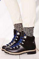 WOOLRICH WOMENS ROCKIES HIKER BLACK NIB METAL / CONDUCTOR STRIPE WOMENS BOOTS