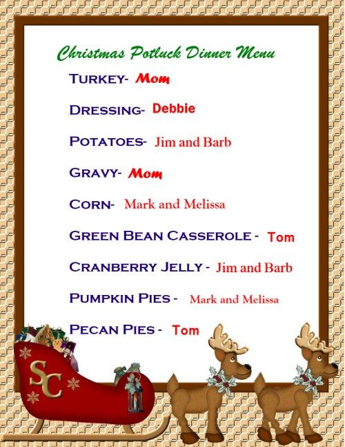Try A Potluck Christmas Dinner | Christmas in The Hills | Pinterest