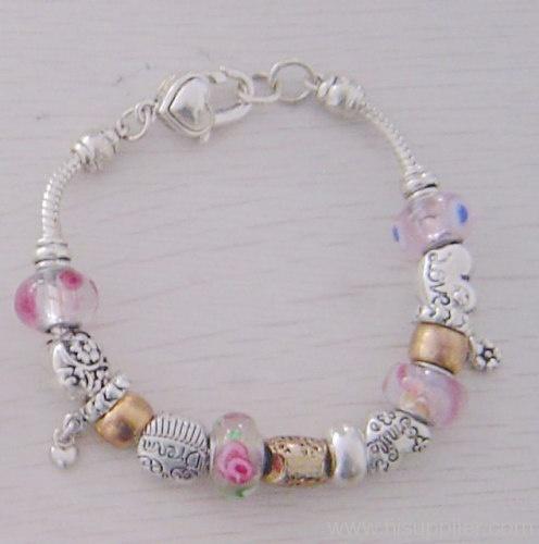 Murano Glass Bead Bracelet: Pandora Style, Beads Lessons, Pandora Beads, Beads Obsses, Murano Glasses, Pandora Bracelets, Handcrafted Jewelry, Glass Beads, Glasses Beads Bracelets