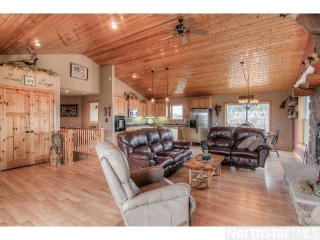 Rustic Woodsy Motif Open Floor Plan In My Dreams