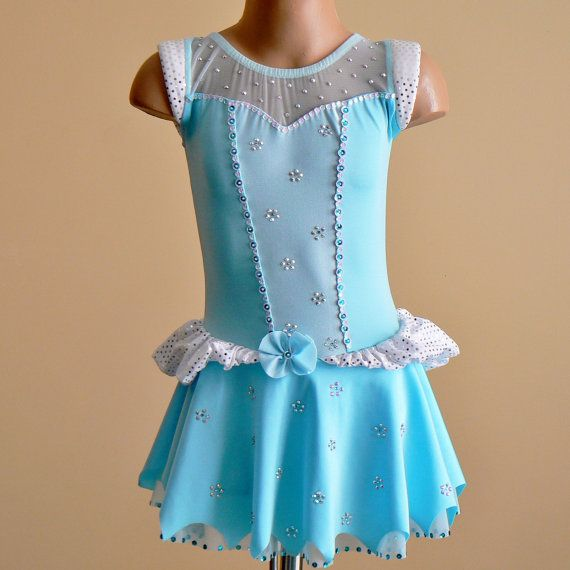 Princess Cinderella Inspired Figure Skating Dress Size 2T - C5. $199.00, via Etsy.