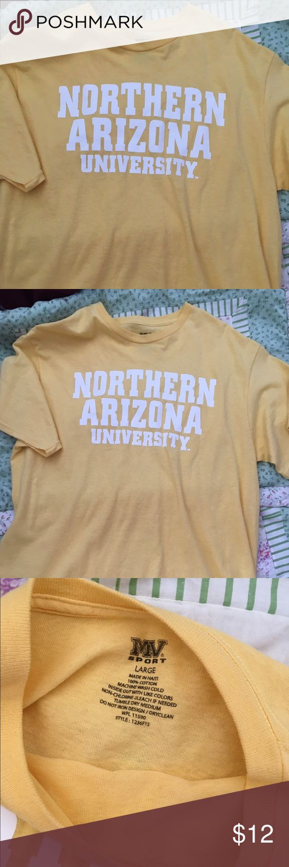 Northern Arizona University College T-shirt!! Super cute Northern Arizona University College t-shirt!! No defects! I only wore this once or twice!! :) Perfect for showing off your college pride properly!! :D Open to offers ;) Vintage Tops Tees - Short Sleeve