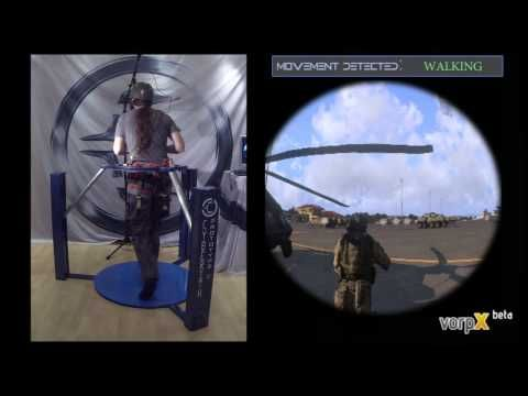 ARMA 3 in VR - Cyberith Virtualizer + Oculus Rift + Wii Mote = REALLY EPIC - YouTube