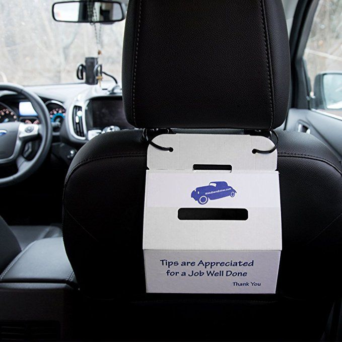 Uber Lyft Driver Tip Jar Accessories Collect Tips Now From Your Customers Lyft Driver Car Accessories Rideshare