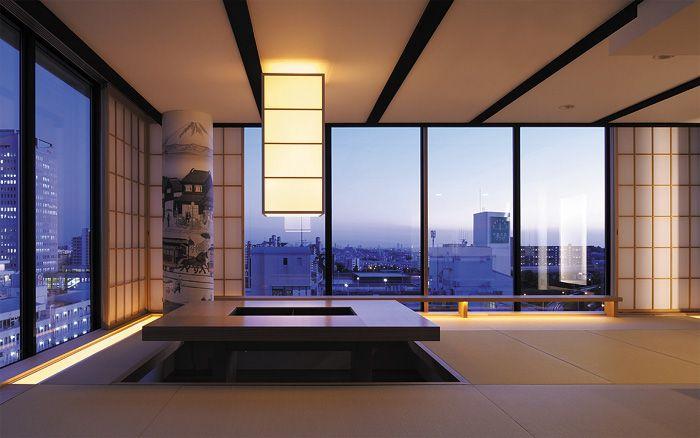 リノベーション マンションの高層階からの夕方の眺め