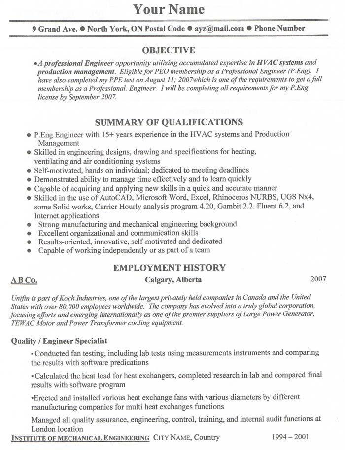 Job resume examples Free Resume Templates Canada Job