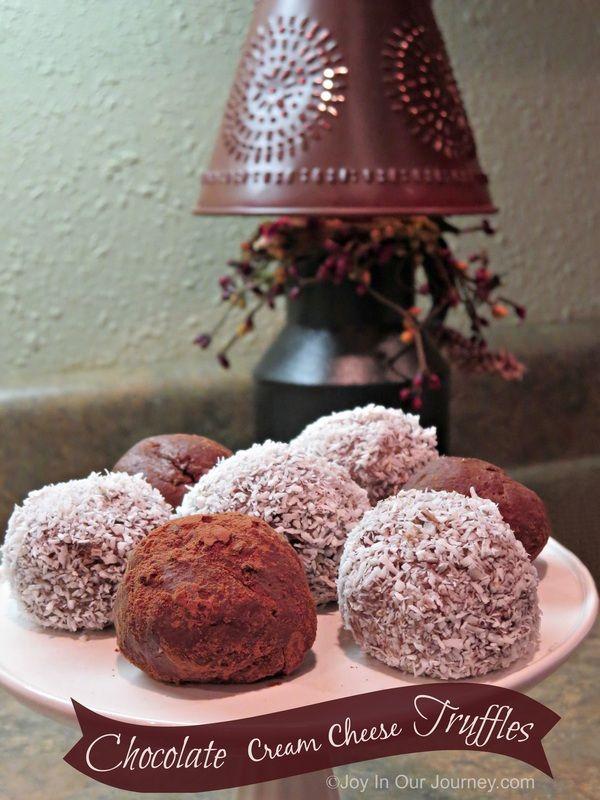 Chocolate Cream Cheese Truffles (low carb, no sugar) - easy food processor/mixer recipe