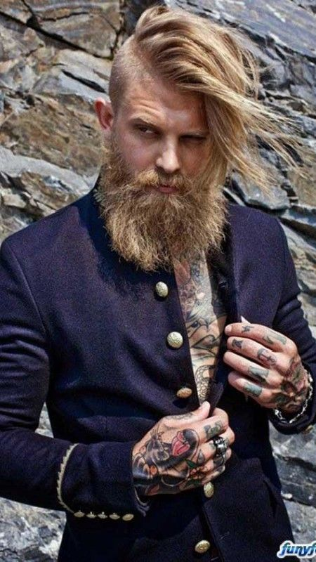 long undercut with beard for men 2016