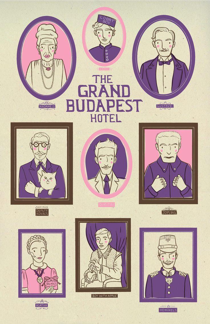 The Grand Budapest Hotel (2014) ~ Alternative Movie Poster by Heather Lund #amusementphile