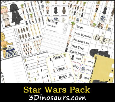 star wars printable worksheets- and other free printables