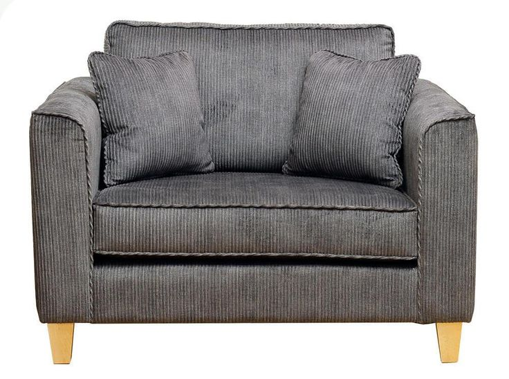 Nolan Love Seat Izima Charcoal {Silver Collection}