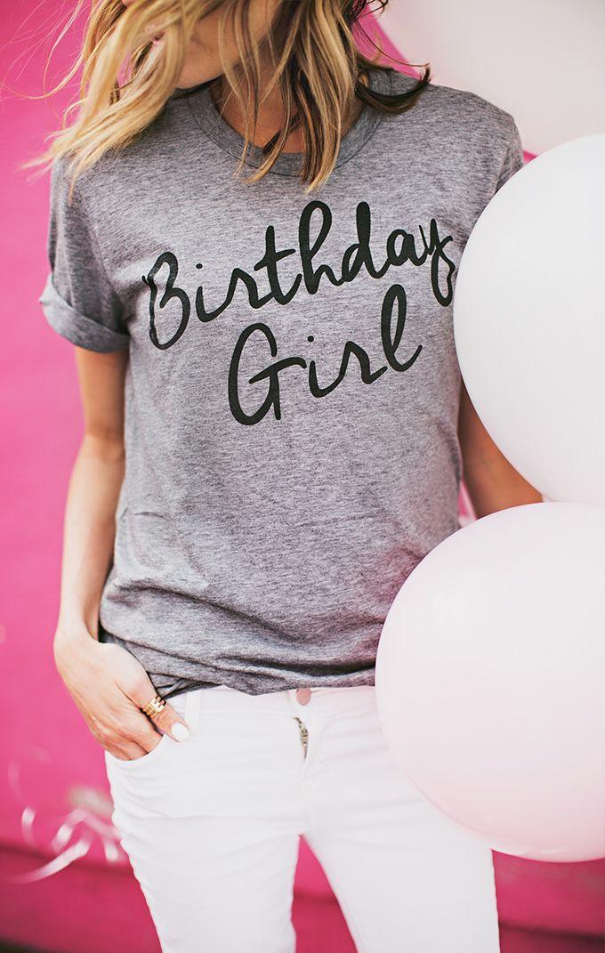 Birthday Girl Tee | Hello Fashion Blog