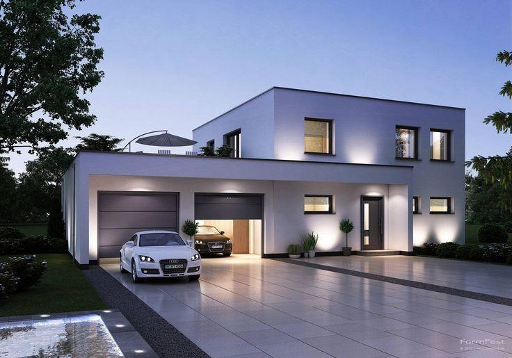 Die 25 besten ideen zu einfamilienhaus auf pinterest for Hausbau moderner baustil