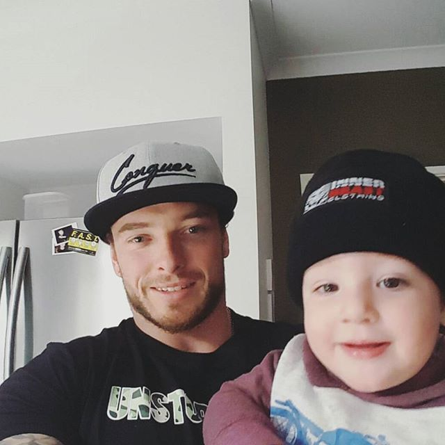 DOUBLE TAP if you're training today 💪  Start them young! 😜 Brodie and son in…