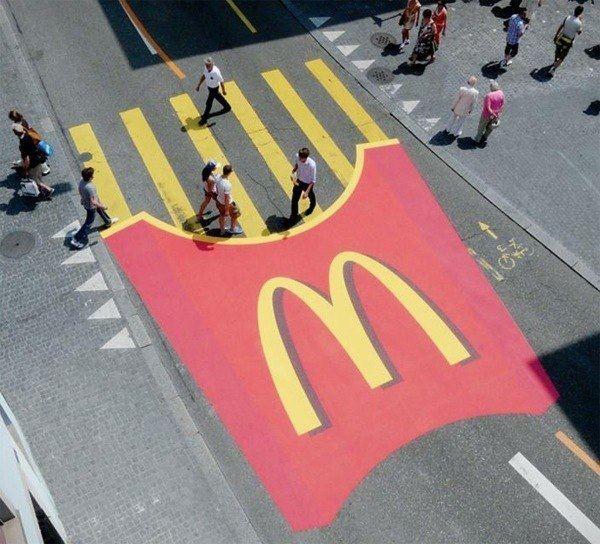 l: Donald O'Connor, Street Marketing, Ads Campaigns, Street Art, Guerrilla Marketing, French Fried, Fast Food, Streetart