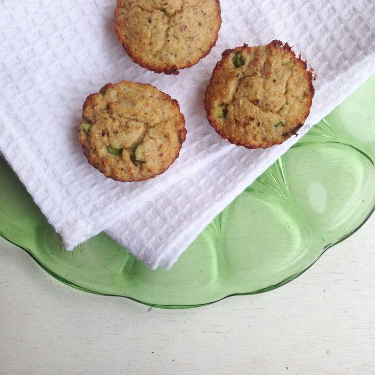 Muffins de coliflor y almendras, Gastroglam Blog.