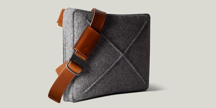 Hard Graft presents the newest addition to their line up: a cross body, felt messenger bag with leather details and more.